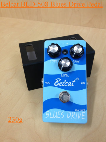 Belcat BLD-508 Blues Drive Effects Pedal,Blue -230g, 110mm(L)* 62mm(W)* 50mm(H)