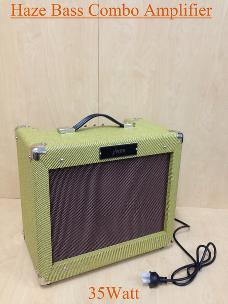 Haze Vintage Tweed 35W Bass Combo Amplifier-Brand New, V35B