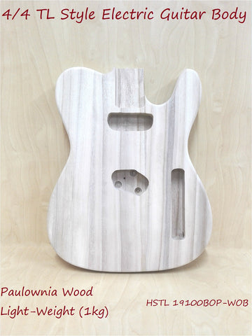 Paulownia Electric Guitar Body,LightWeight,Pre-Drilled/Polished HSTL19100BOP-WOB