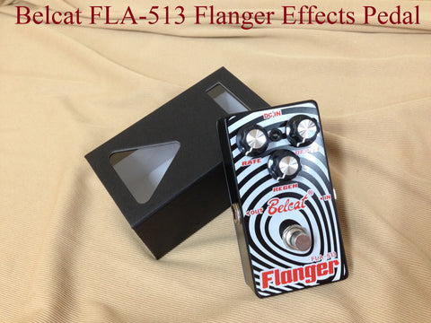 Belcat FLA-513 Flanger Effects Pedal, Black, 110mm(L)* 60mm(W)* 50mm(H)