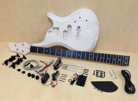 4/4 Complete No-Soldering PRS Electric Bass Guitar DIY Kit+Tuner,Picks.B-325DIY