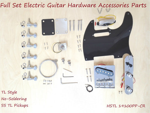 Full Set Electric Guitar Hardware Accessories Parts,No-Soldering HSTL 19100PP-CR