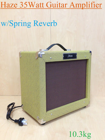 Haze Vintage Tweed 35W Guita Combo Amplifier, w/Spring Reverb,Brand New, V35RG