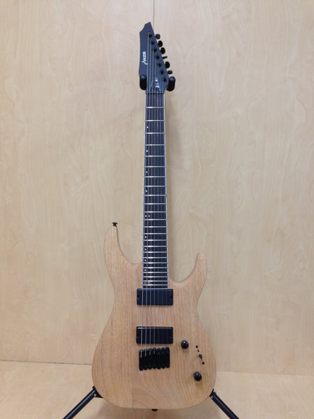 Haze HS-E007NOIL Natural Oil Solid Mahogany Body 7-String Electric Guitar+Bag