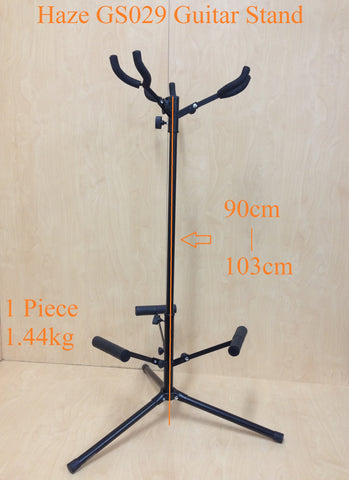 Fully Collapsible Haze GS029 Metal-Rubber Structure,Tripod-Base 3-Guitar Stands