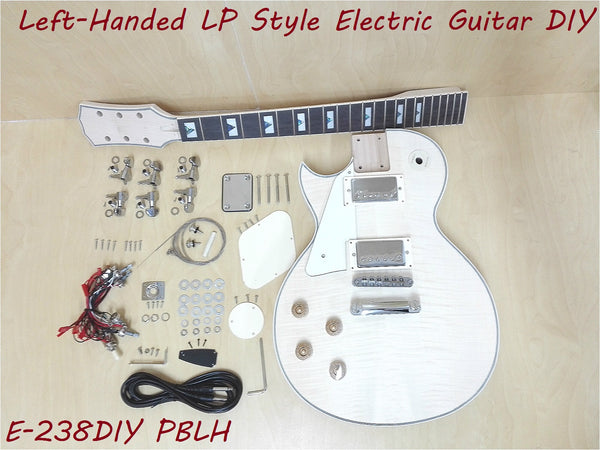 Left-Handed LP Electric Guitar DIY,No-Soldering,Flame Maple Veneer. 238DIY PBLH