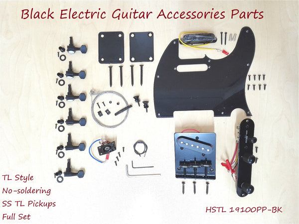 Black Electric Guitar Hardware Accessories Parts,No-Soldering HSTL 19100PP-BK