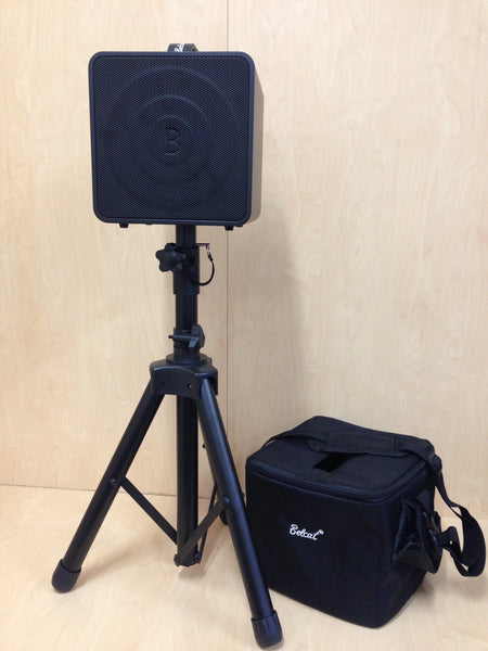 Belcat 40Watt Rechargeable Acoustic Amplifier+Height Adjustable Stand-BUSKER BOX