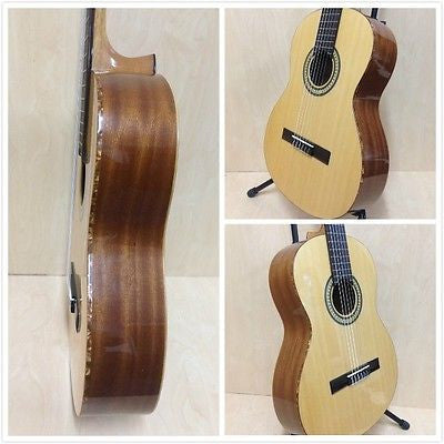 Miguel Rosales #9 Solid Cedar Top Classical Guitar,Natural +Free Gig Bag,Strings