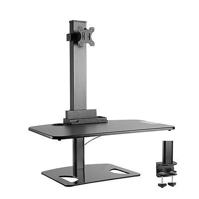 Height Adjustable Stand sit and stand work station with Single Display Mount or Clamp DWS03-T01BK