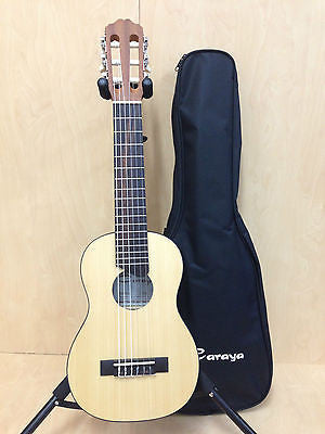 Caraya Traveller Natural Matt Guitarlele Nylon String C-28N with Free Soft Case