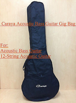 Brand New Caraya Waterproof Nylon Gig Bag for Acoustic Bass Guitar,Black+3 Picks