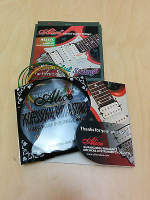 Alice Electric Guitar Steel strings, Colorful, AE535C. 0.23mm-1.07mm + 3 Picks