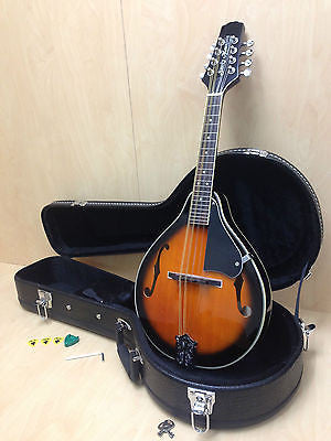 Smoky Mountain SM64VSB A-style,F-holes Mandolin Sunburst w/Lockable Hard Case