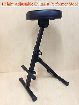 Haze KB009 Height Adjustable(4 ways)Guitarist Performer Stool/Chair w/Foot Rest