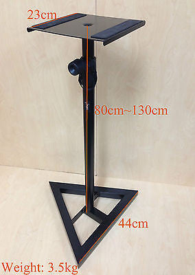 SS015 Metal Stand for Home Theatre Monitor,Speaker,Floor Stand Sound-Black