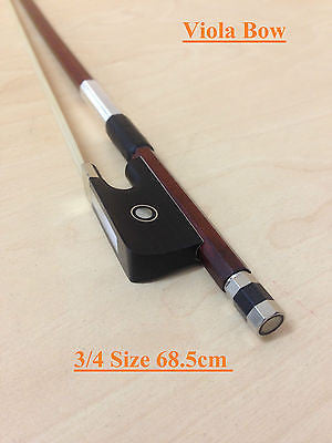 Symphony Professional 3/4 Size Viola Bow - Brazilwood, Real Horse Hair