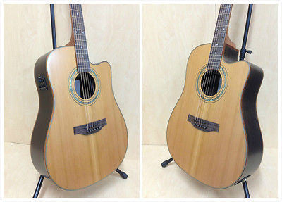 Martin Klema K300DC-CE Solid Cedar Top Acoustic Guitar,Built-in EQ+Free Gig Bag