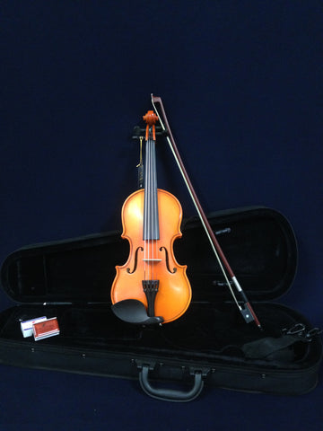 Handmade Kapok V888 Premium 1/2 Size Solid Wood Violin Pack-Foam Case,Rosin,Bow