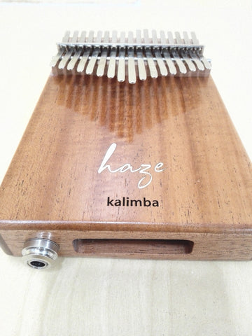 Haze 17-Key Solid Mahogany Kalimba MBIRA Thumb Piano+Pickup,Tutorial Manual 01EM