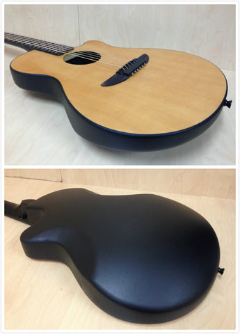 "38"" Haze 836CSMN Round-back Acoustic/Classical Guitar,Natural Matt+7 Accessaries"