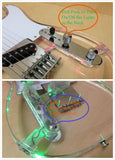 HSE-218P Haze Clear Acrylic See-Thru TC Electric Guitar,LED Lights on Body,Neck+Free Bag