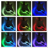 Haze 200P Clear Acrylic See-Thru ST Electric Guitar,LED Lights on Body,Neck+Bag