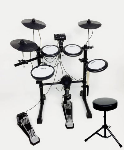 Aroma ALL-MESH 5+3 ELECTRONIC DRUMS WITH DUAL ZONE SNARE AND CYMBALS+STOOL  TDX-16S