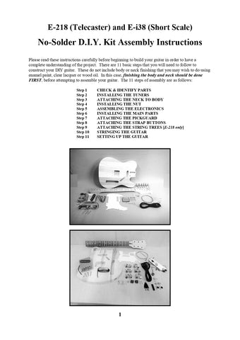 E218 Tele Ei38 DIY Guide