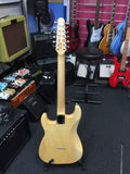 4/4 Haze HSST 10S 12-String Electric Guitar,S-S-S,Quilted Natural +Free Gig Bag