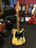 Haze Relic TL Electric Guitar with Alder Body,Maple Neck,Yellow+Free Bag