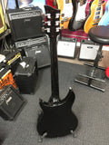 Haze Ric 6 String Semi Hollow Body Black Electric Guitar Single Hole,HSRC 1930