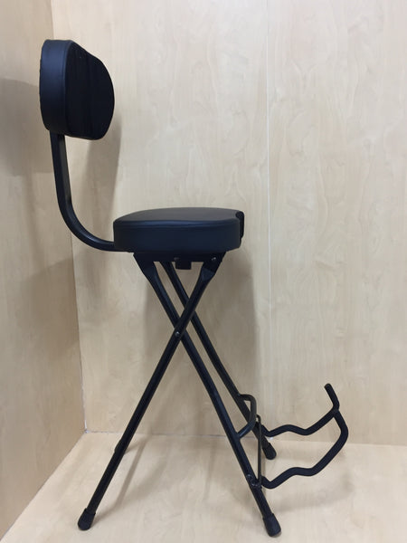 Haze 2in1 Foldable Guitar Stool Studio Chair Bar Stool Guitar Holder Stand w/Back  KB011