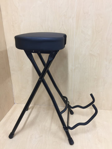 Haze 2in1 Foldable Guitar Stool Studio Chair Bar Stool Guitar Holder Stand KB010