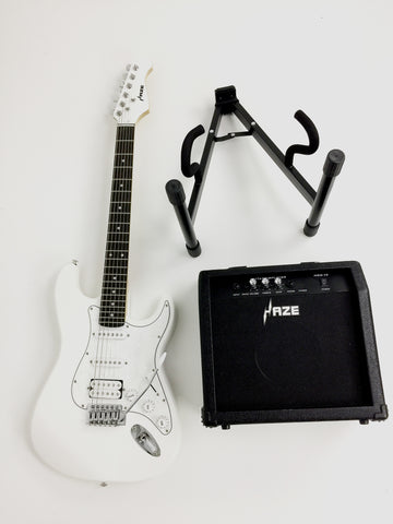 ON SALE Haze E-211  Electric Guitar,Amp,Stand Pack!