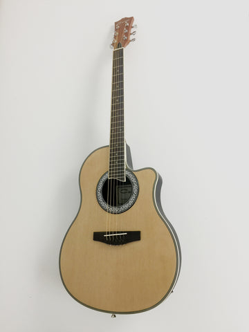 "41"" Caraya SP-721CEQ/N Natural Round-Back Electro-Acoustic Guitar+Free Gig Bag"