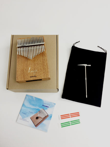 Haze 17-Key Solid Mahogany Kalimba MBIRA Thumb Piano,Tutorial Manual 01M