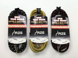 Haze 3m 6m 10m 15m Braided Tweed Guitar Lead Gold Jack Instrument Cable