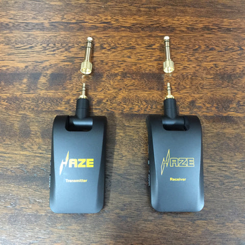 "Haze WP-5 Wireless Guitar System,T1+R1,1/8""(3.5mm) & 1/4""(6.35mm) Male Connector"