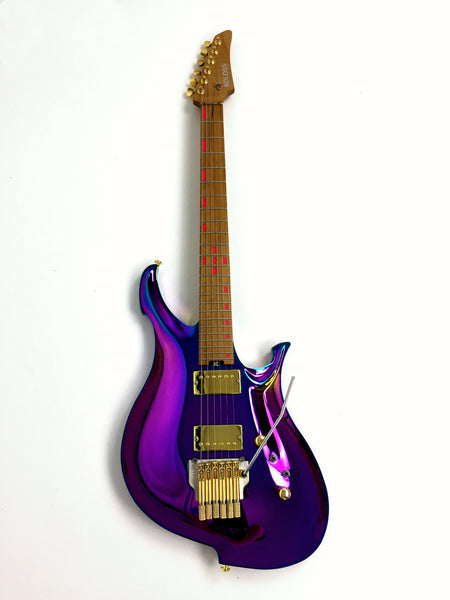 KOLOSS X-Haze Aluminum body electric guitar Purple+Bag|X-HAZE|