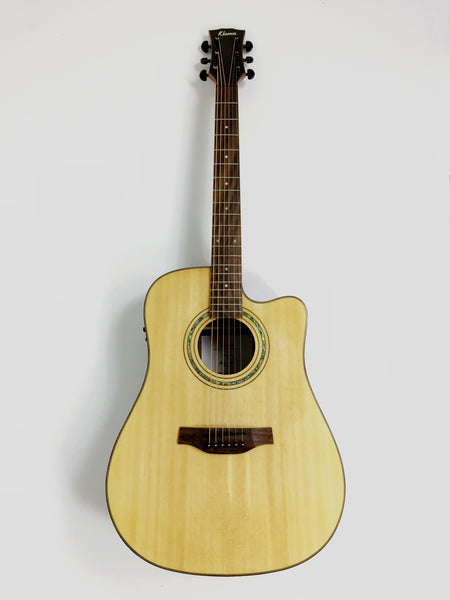 Klema K300JS-CE Solid Spruce Top,Dreadnought Acoustic Guitar,Fishman EQ+Free Bag