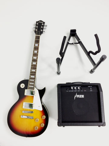 ON SALE Haze E-277 Electric Guitar,Amp,Stand Pack!
