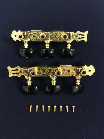 Classical Guitar Tuning Pegs Machine Head Gold|AO-020B3P|