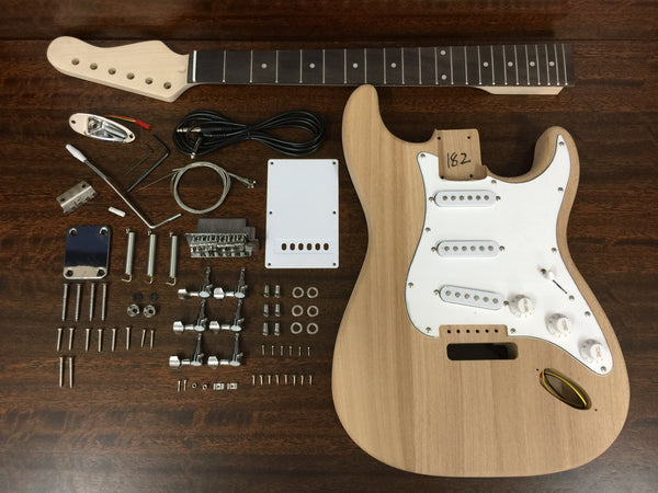 GKHSST1915 Solid Ashwood Body ST Style Electric Guitar DIY Kit, No-Soldering, SSS