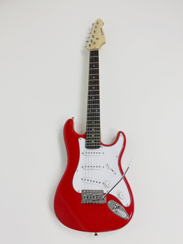 Skwill 3/4 Solid Body ST Electric Guitar Red +Free Gig Bag, Extra Strings, Strap, Picks