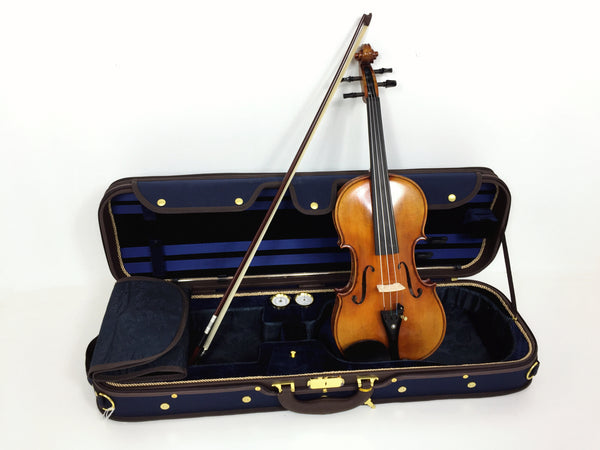 4/4 Symphony One piece back Solid wood handmade violin outfit, ebony fittings SJV888