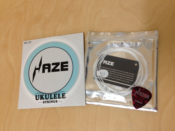 Haze DU-23 Full Set White Nylon String for Soprano,Concert,Tenor Ukulele+1 Picks
