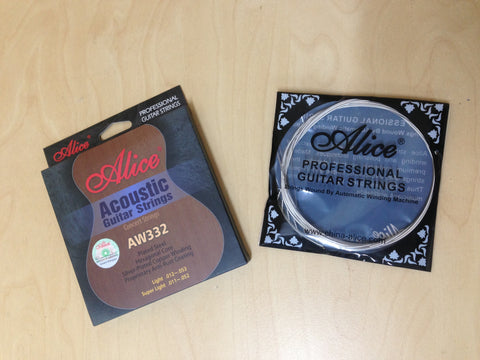 "Alice AW332-L Professional Acoustic Guitar Strings (.012""~.053"") Concert Strings,Light"