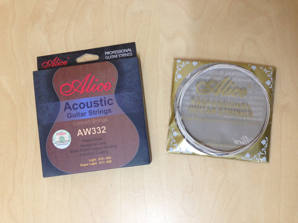 "Alice AW332-SL Professional Acoustic Guitar Strings (.011""~.052"") Super Light"