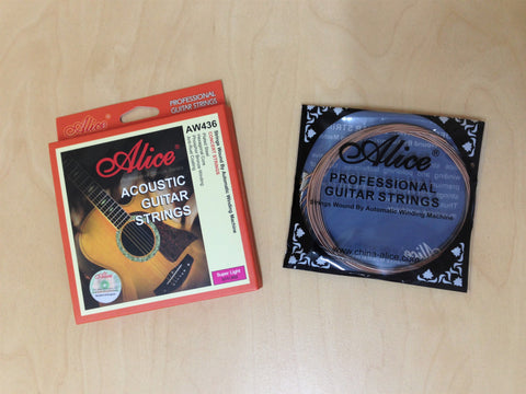 "Alice AW436-SL Professional Acoustic Guitar Strings (.011""~.052"")Concert Strings"